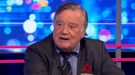 A picture of Ken Clarke on the Peston show