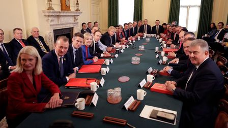 Prime Minister Boris Johnson presides over cabinet meeting at 10 Downing Street
