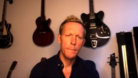Picture of Laurence Fox in a studio