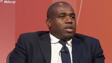 Picture of David Lammy on Question Time