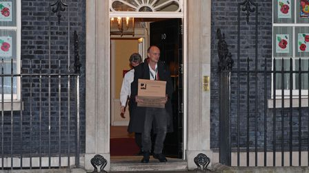Prime Minister Boris Johnson's top aide Dominic Cummings leaves 10 Downing Street