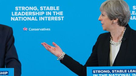 Theresa May during the 2017 general election campaign. New research has found that the Tories have s