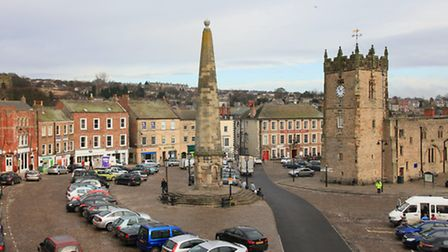 Holy Trinity Church and Obelisk in Market Place