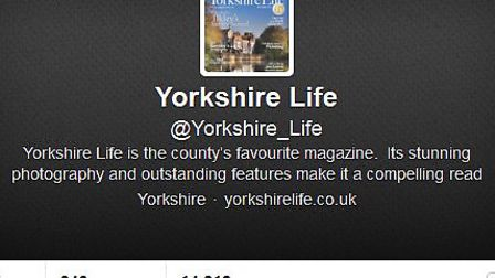 Follow us on twitter at @Yorkshire_Life