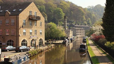 The Rochdale Canal and The Marina.
