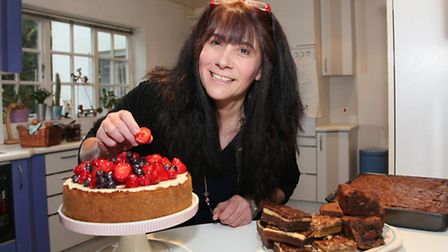 Bramhope's Yummy Yank Lisa Gair with some of her American desserts...
