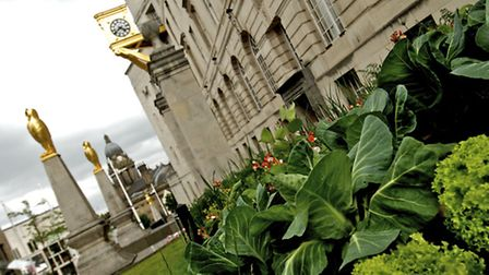 """"""" Edible beds"""" planted at Civic Hall."""