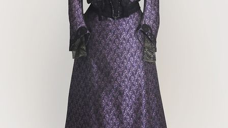 The Dowager Duchesss purple dress from the first series of Downton Abbey