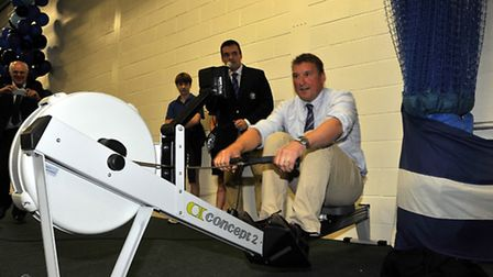 Matthew Pinsent joins in the charity row-athon