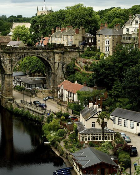 Knaresborough's much photographed listed viaduct