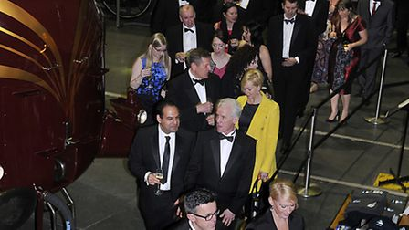 Guests make their way through the National Railway Museum at the Annual Dinner.