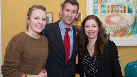 Georgie Brooke and Amy Thornton from Stockeld Park with Nuno Cesar de Sa, hotel manager at Rudding P