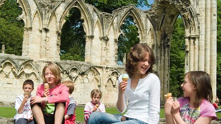 Yorks ten-acre Museum Gardens offers plenty of room for a picnic