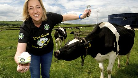 Louise Holmes, director of Yummy Yorkshire with one of her talented ice cream makers