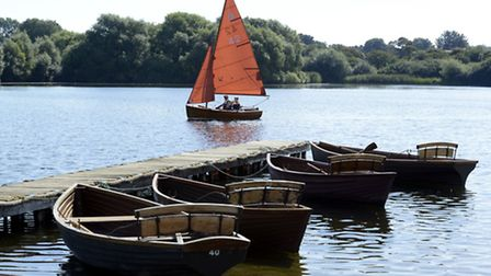 Hornsea Mere, the largest freshwater lake in Yorkshire, UK stretching over 467 acres, attracts a var