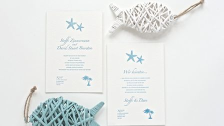 Each invitation is produced by hand by Phylecia in her Victorian press
