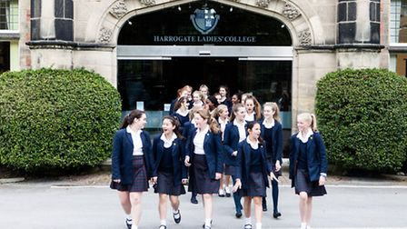 The girls of Harrogate Ladies' College, where everyone is encouraged to aim high