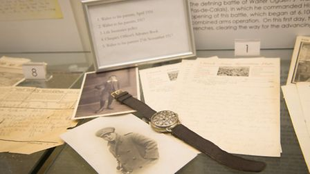 Part of the First World War archive now on display at Ogdens James Street shop