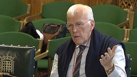 Oil tycoon Sir Ian Wood, answering questions in front of the Scottish Affairs Committee at the House