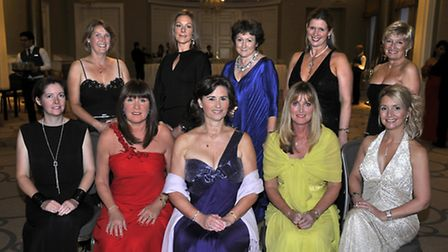 The Ball committee, front left to right, Lyndsey Saunders, Sharon Fraser, Louise Hanen, Maria Dawson