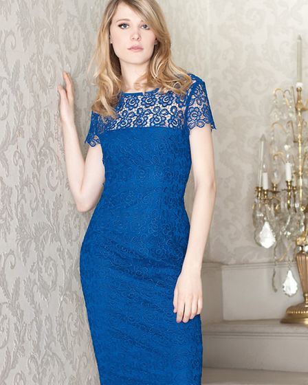This lacy feminine dress by Gina Bacconi is ideal for the party season £249 at Snooty Frox