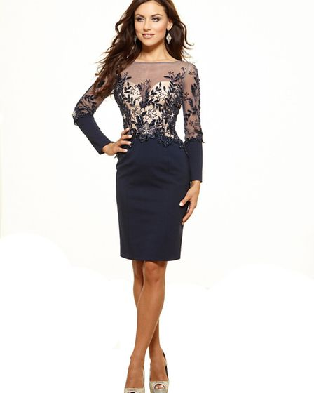 Dare to wear this figure-hugging dress with sheer panels by Terani Couture £699 at Snooty Frox