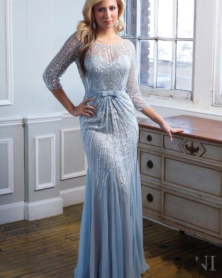 This beautiful pale blue dress by Terani Couture will turn heads £1,159 at Snooty Frox