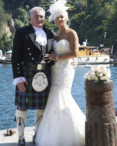 Guthrie-Fox - James Guthrie and Andrea Fox both from York were married at Castello Brown, Portofino,