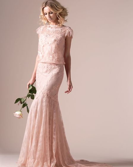 Iphigenie dos - slinky soft fluid skirts with demure covered shoulders and a fabulous cowl back - is