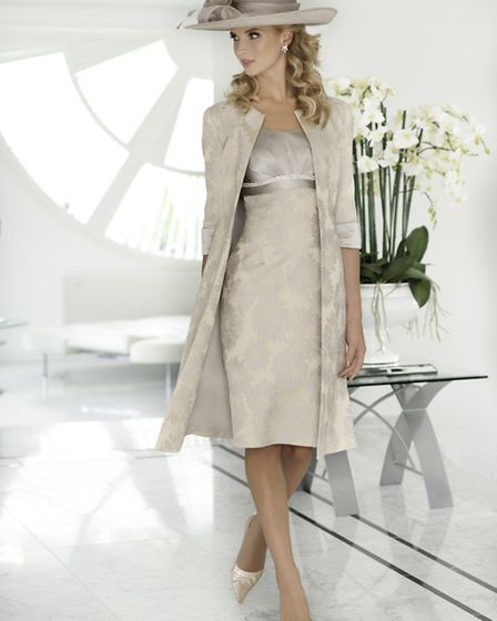 Subtle print dress with long jacket by Ispirato, £839 at Snooty Frox