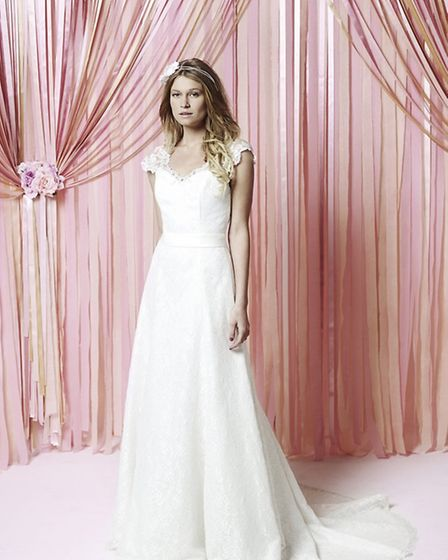 he Abbie dress from the Iscoyd Park collection by Charlotte Balbier, £1,149 from Lace & Co Bridal Bo