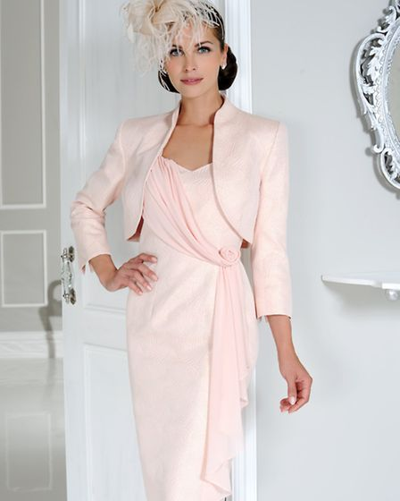 Make a stunning, elegant statement in this soft pink dress and matching jacket by Dress Code, £549 f