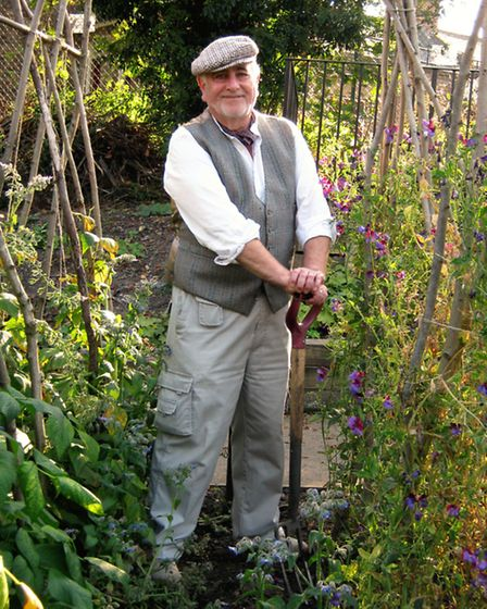John Holmes, Ripon Museums Trust education volunteer, gets into his role at a 19th century gardener