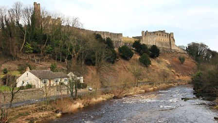 River Swale and Richmond Castle.
