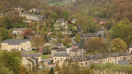The town is surrounded by the gloriously green Calder Valley