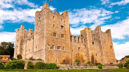 Bolton Castle high above the River Ure where Mary Queen of Scots was held prisoner