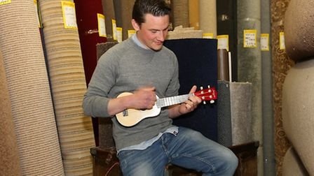 James Reed with his uke