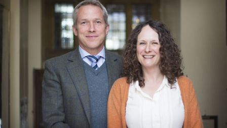 New headmaster of Aysgarth School Rob Morse with his wife Lottie who will teach at the school
