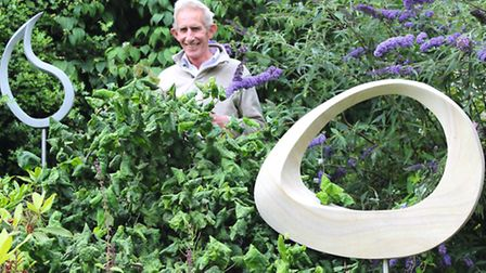 Former shepherd, passionate mathematician and talented sculptor Jim Milner in his South Yorkshire ga