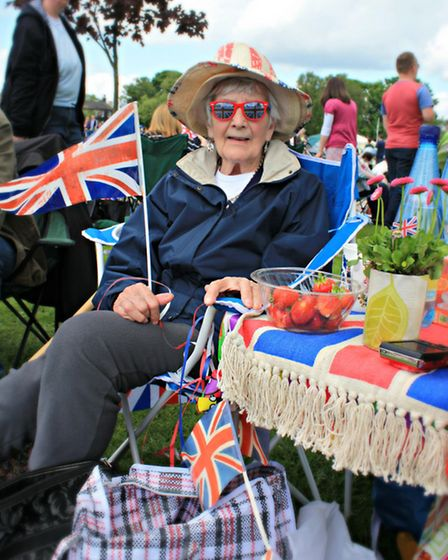Maureen Lee, 89, from Bramley at the Queen's Diamond Jubilee celebrations