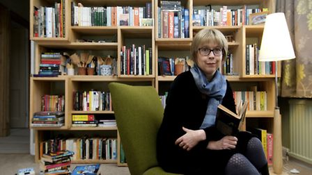 Crime writer Helen Cadbury with some of her favourite books at her home in York