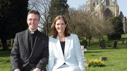 The Very Rev John Dobson with his wife Nicola