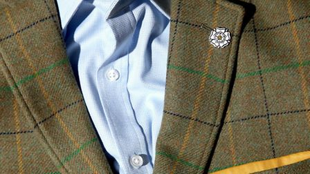 The white rose of Yorkshire is incorporated in the new Great Yorkshire Tweed jacket