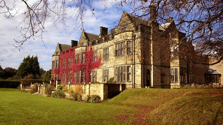 The ivy-clad exterior of Gisborough Hall on the northern edge of North Yorkshire