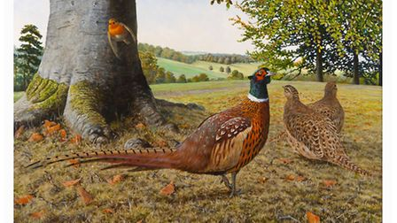 Richard's paintings portray wildlife - usually native - in close detail