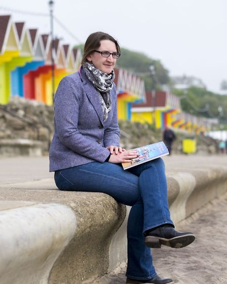 Esther Graham, Seaside Heritage Network project manager, at Scarborough's North Bay. Photo by Tony