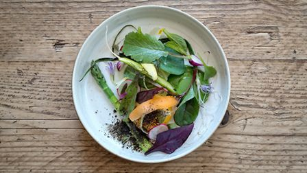 The very best of Ruddings kitchen garden produce is presented in a simple salad