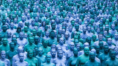 Spencer Tunick's Sea of Hull installation Photo: Danny Lawson/PA Wire