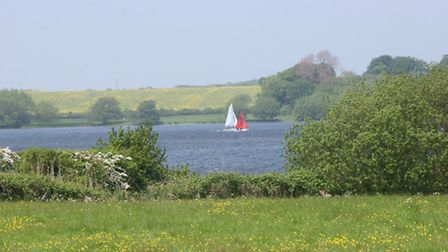 Yachts on Hornsea Mere
