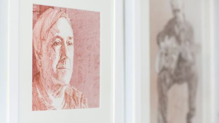 A portrait of Robin Hood's Bay resident Ian MacDonald features in Steve's new exhibition at the Pyra